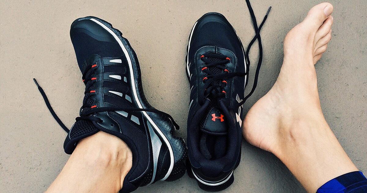 Träna båda fötterna efter en stukning